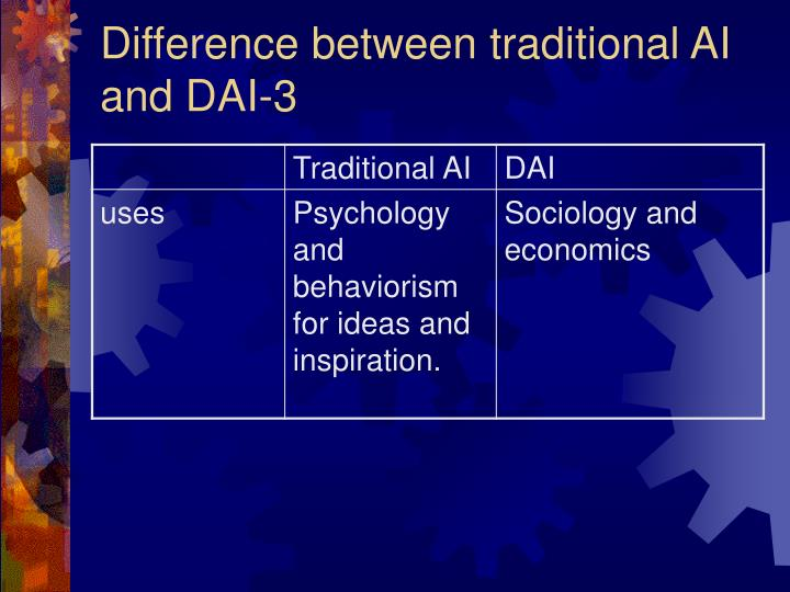 Difference between traditional AI and DAI-3