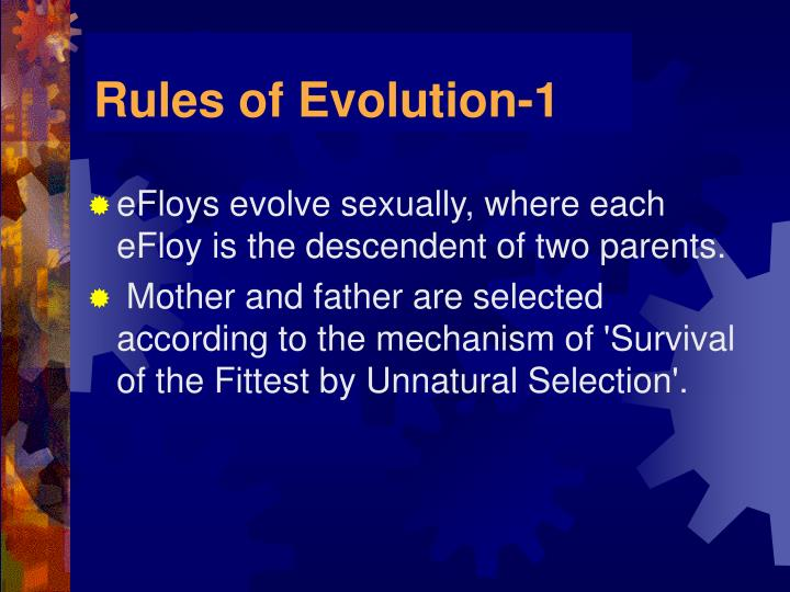 Rules of Evolution-1