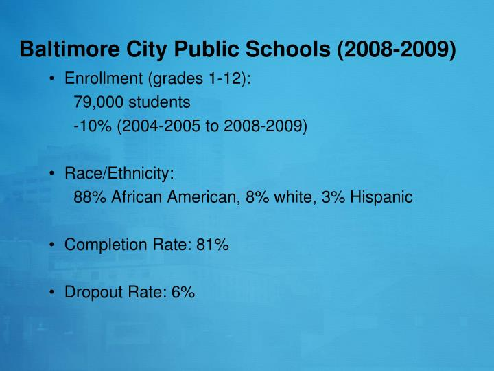 Baltimore City Public Schools (2008-2009)
