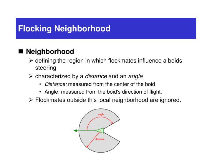 Flocking Neighborhood