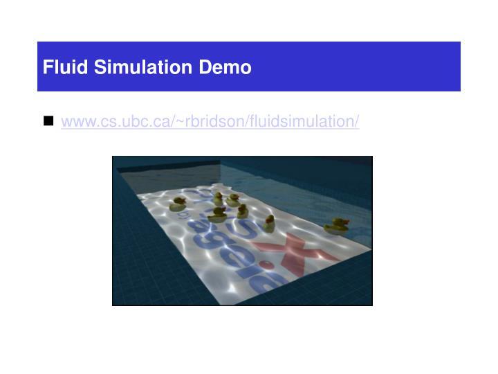 Fluid Simulation Demo
