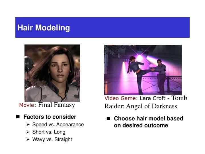 Hair Modeling