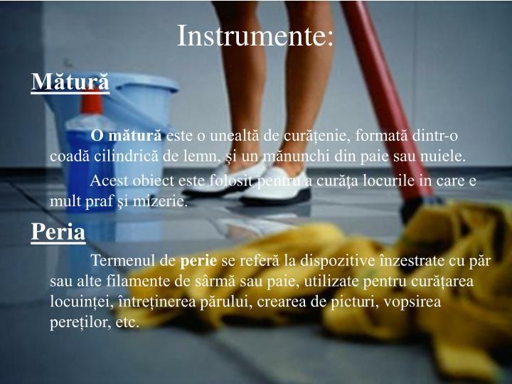 Instrumente: