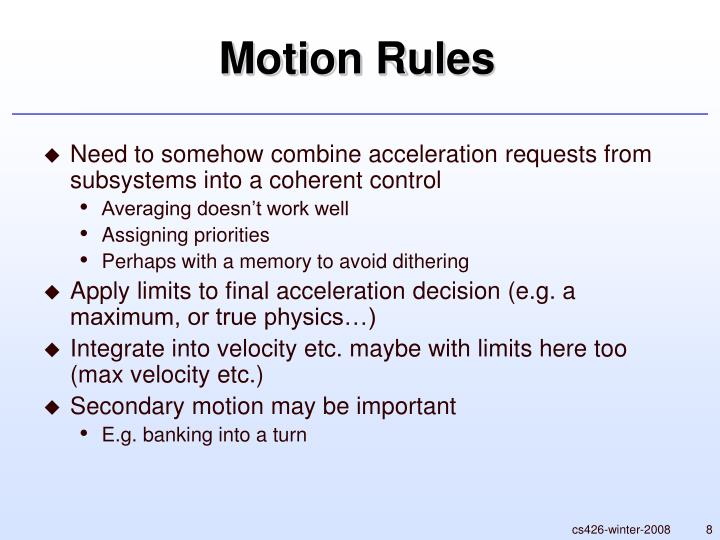 Motion Rules