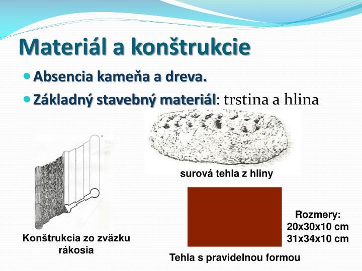 Materiál a konštrukcie