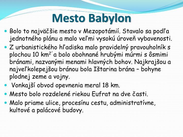 Mesto Babylon
