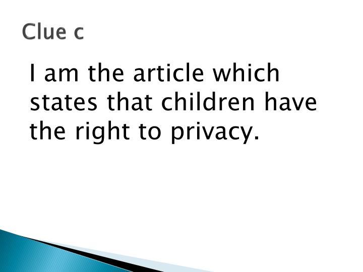 Clue c