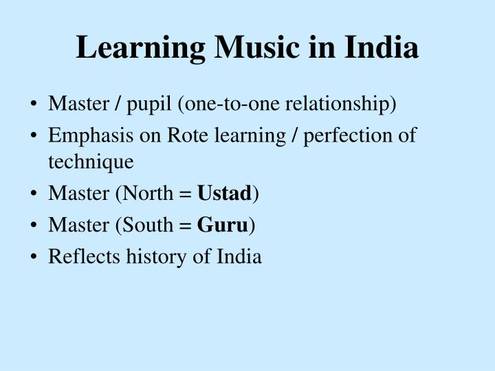 Learning Music in India