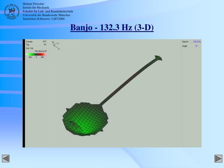 Banjo - 132.3 Hz (3-D)