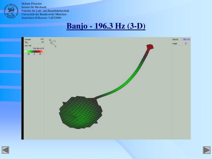 Banjo - 196.3 Hz (3-D)