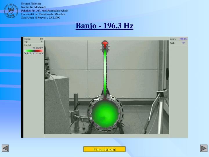 Banjo - 196.3 Hz