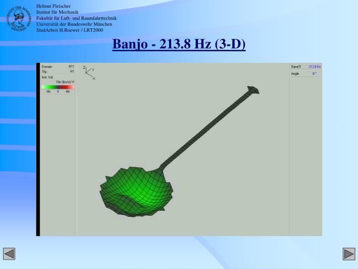 Banjo - 213.8 Hz (3-D)