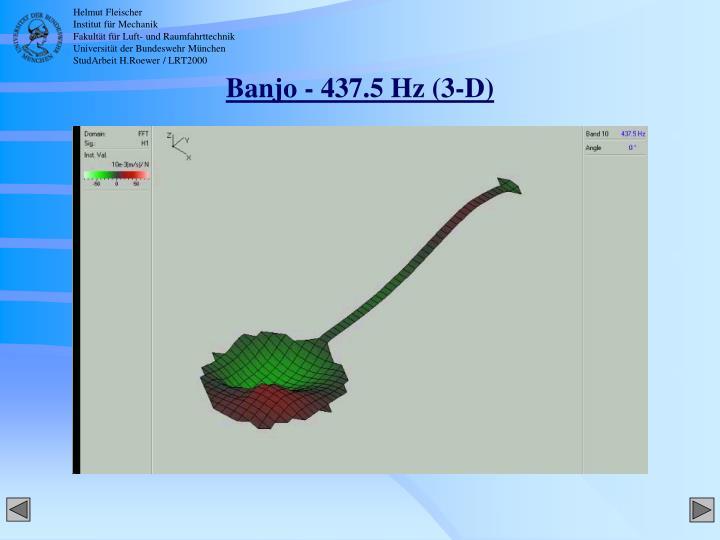 Banjo - 437.5 Hz (3-D)