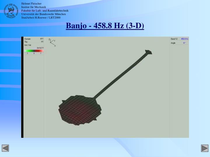 Banjo - 458.8 Hz (3-D)