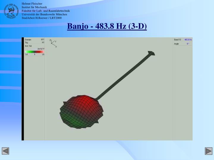 Banjo - 483.8 Hz (3-D)