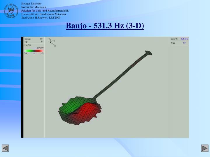 Banjo - 531.3 Hz (3-D)