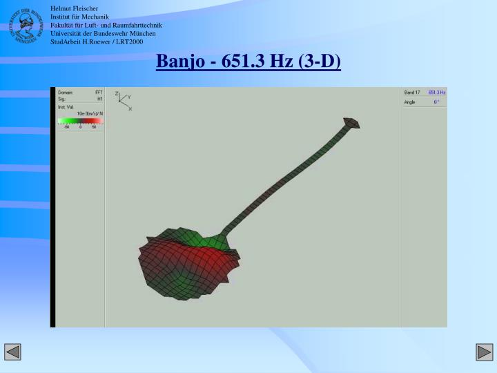 Banjo - 651.3 Hz (3-D)
