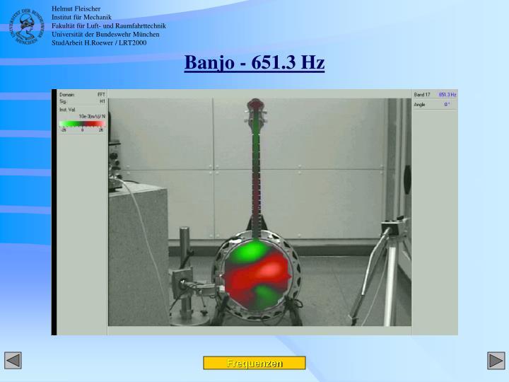 Banjo - 651.3 Hz