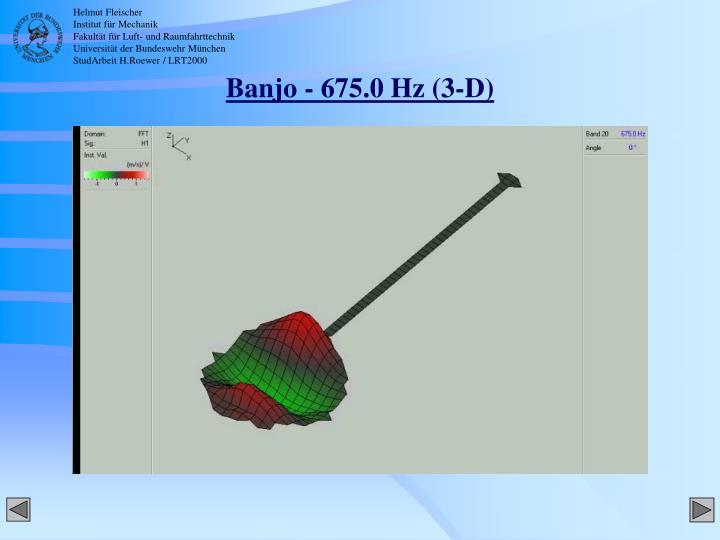 Banjo - 675.0 Hz (3-D)
