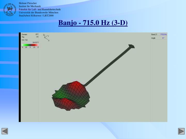 Banjo - 715.0 Hz (3-D)