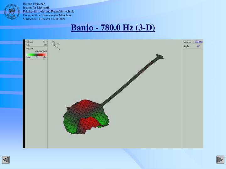 Banjo - 780.0 Hz (3-D)