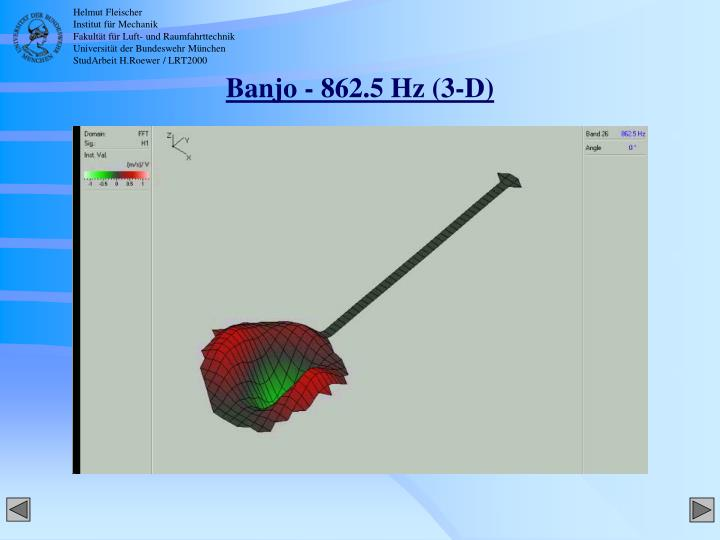 Banjo - 862.5 Hz (3-D)