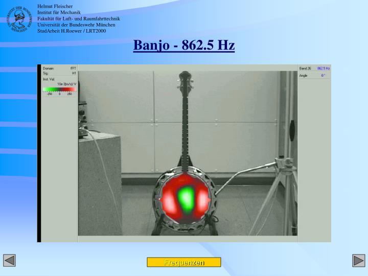 Banjo - 862.5 Hz