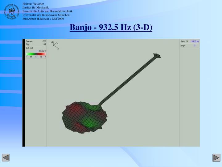 Banjo - 932.5 Hz (3-D)