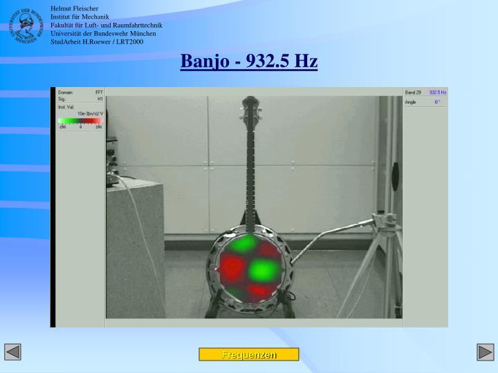 Banjo - 932.5 Hz