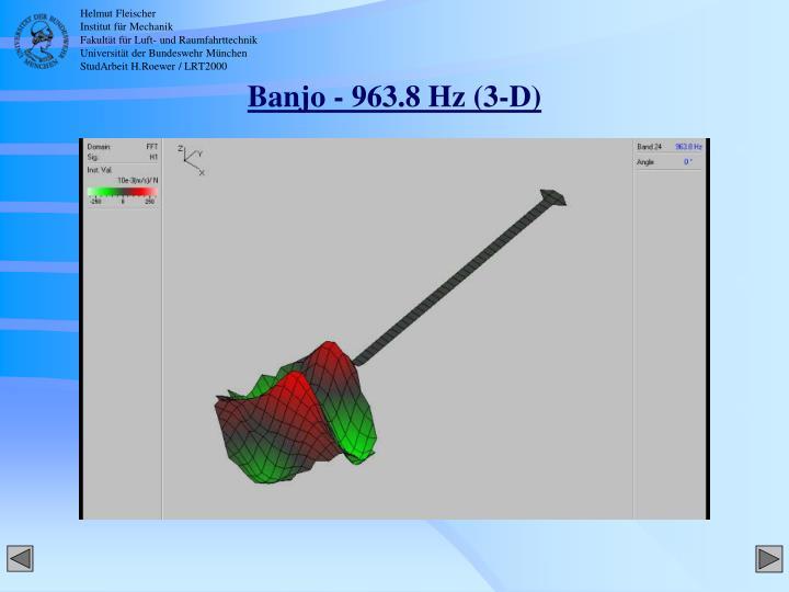 Banjo - 963.8 Hz (3-D)