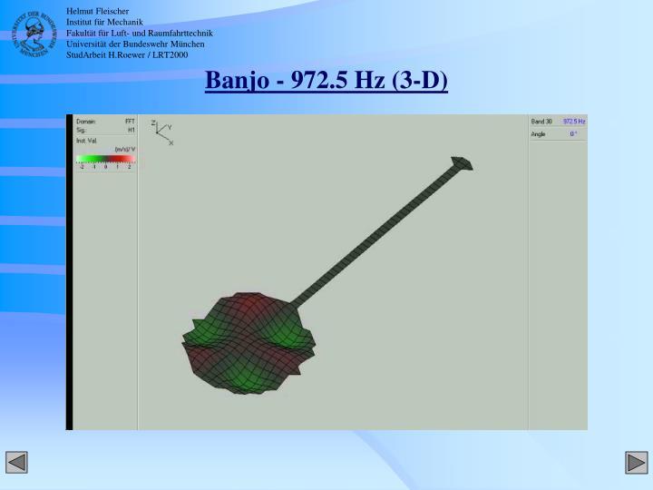 Banjo - 972.5 Hz (3-D)