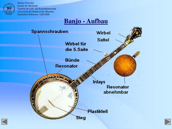 Banjo - Aufbau