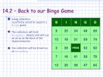 14 2 back to our bingo game