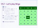 14 2 let s play bingo