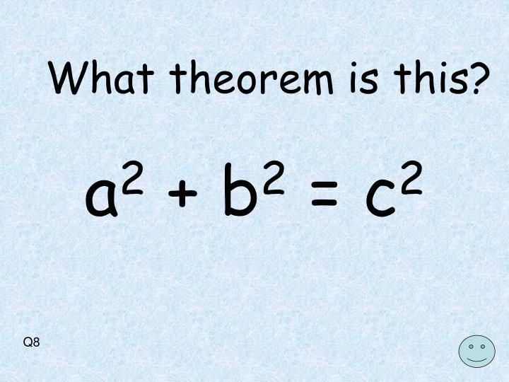 What theorem is this?
