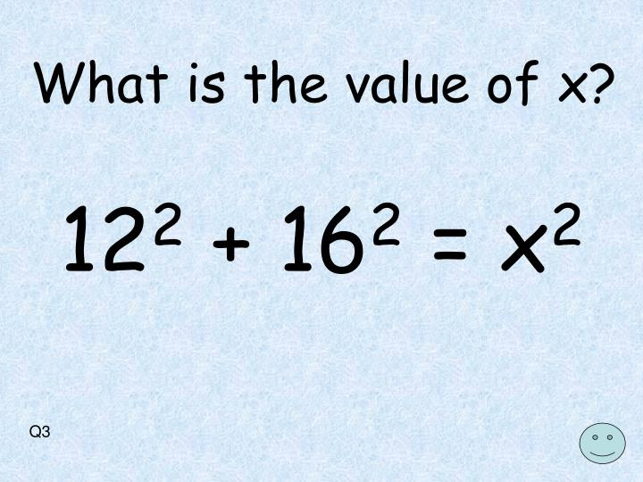 What is the value of x?