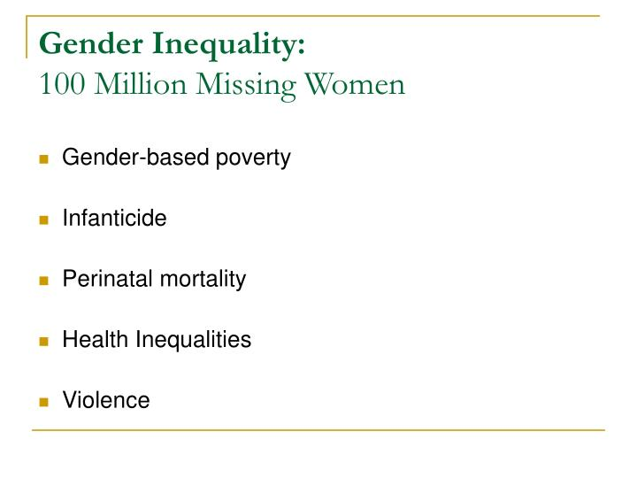 Gender Inequality: