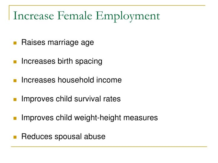 Increase Female Employment