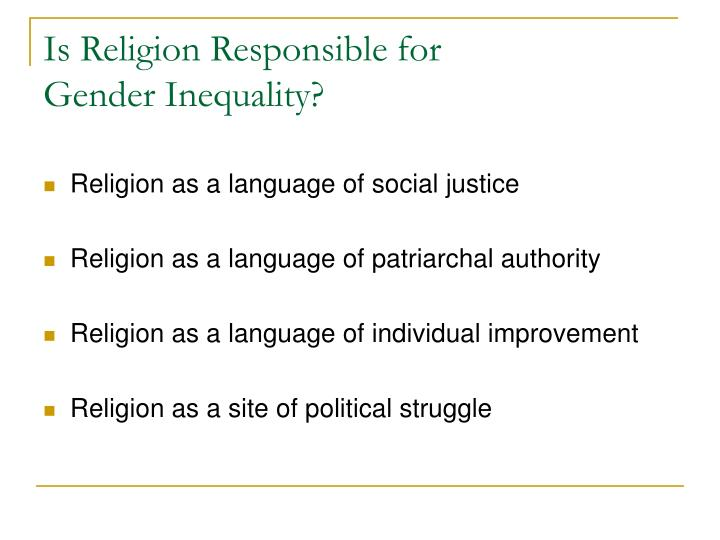 Is Religion Responsible for