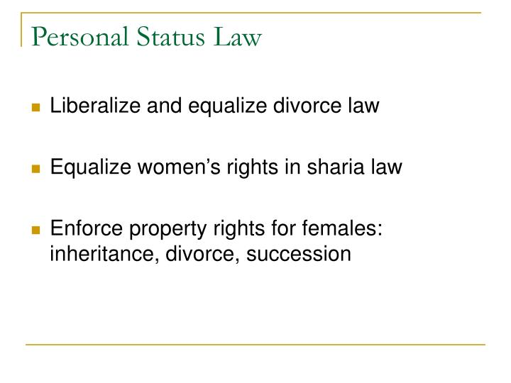 Personal Status Law