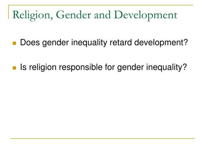 Religion gender and development1