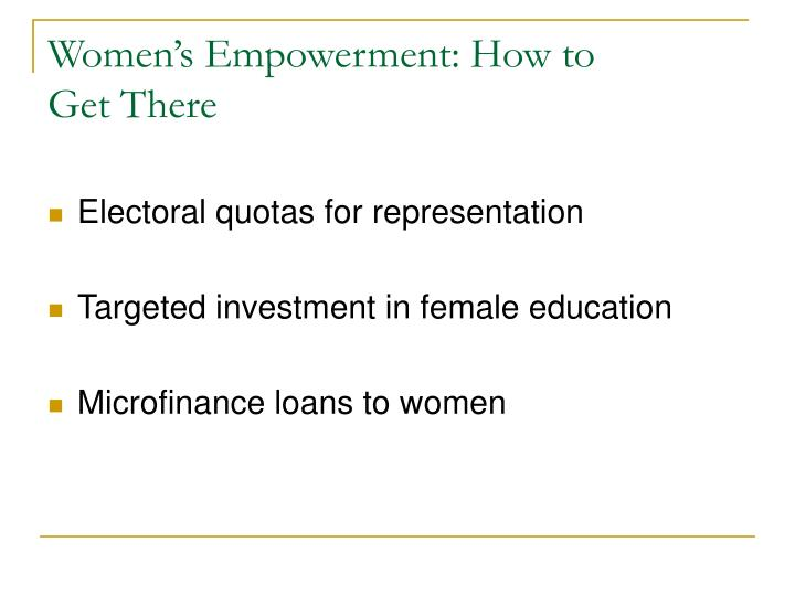 Women's Empowerment: How to