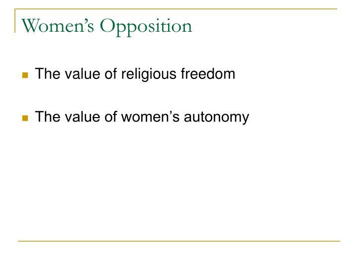 Women's Opposition