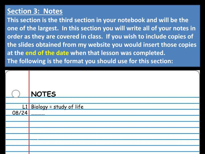 Section 3:  Notes