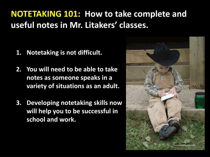 NOTETAKING 101