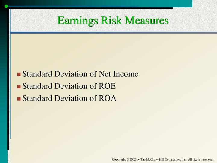 Earnings Risk Measures