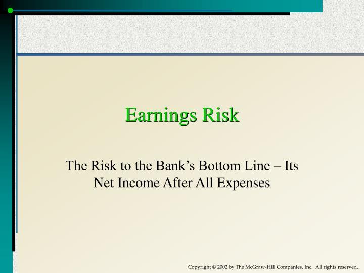 Earnings Risk