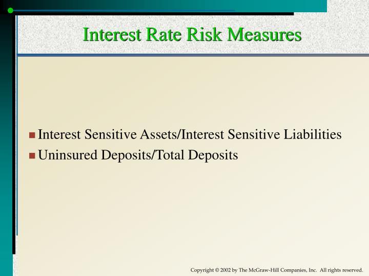 Interest Rate Risk Measures