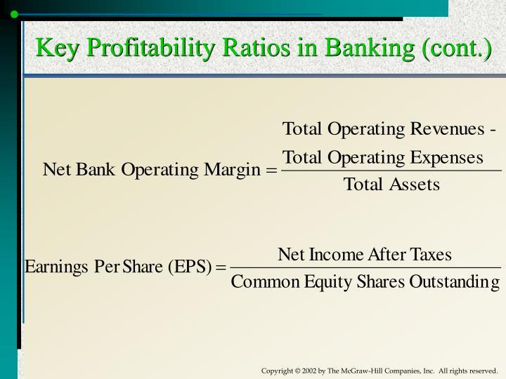 Key Profitability Ratios in Banking (cont.)
