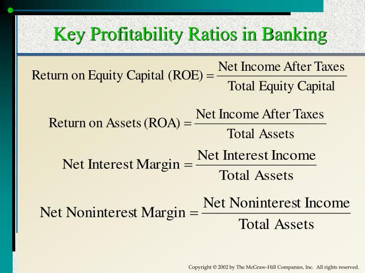 Key Profitability Ratios in Banking